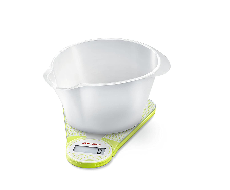 Soehnle 66228 6900-Bascula Digital de Cocina Genio, Color Gris, Verde