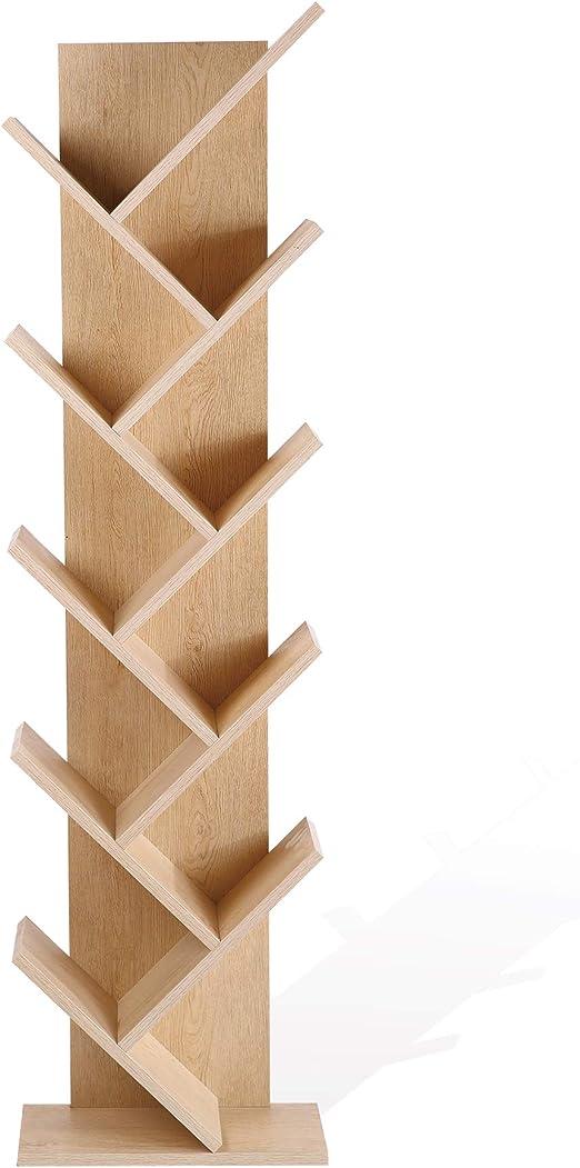 Rebecca Mobili Estantería Estilo escandinavo, estantería Moderna, 10 estantes, marrón, Madera MDF, hogar y Oficina- Medidas: 160 x 44,5 x 22 cm (AxANxF) - Art. RE4792: Amazon.es: Hogar