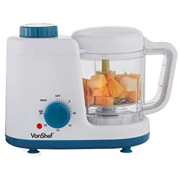 Vonshef baby food maker combined 2 in 1 baby food steamer and vonshef baby food maker combined 2 in 1 baby food steamer and blender forumfinder Image collections