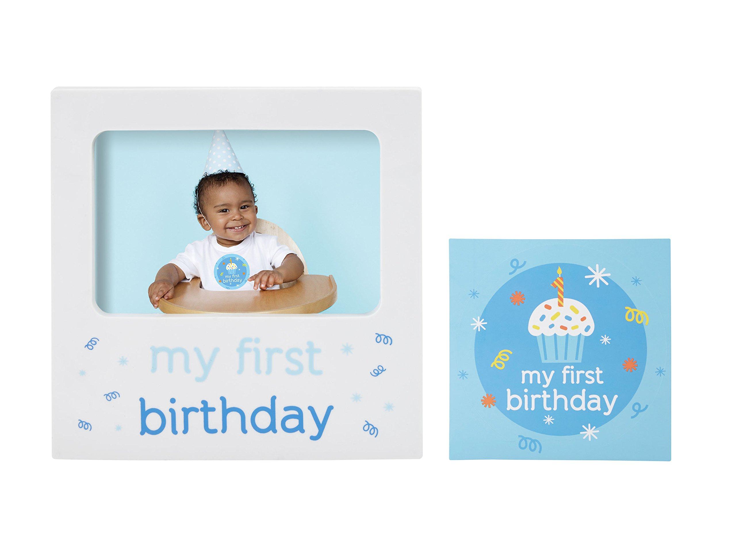 Amazon.com : Tiny Ideas Baby\'s First Birthday Milestone Baby Belly ...