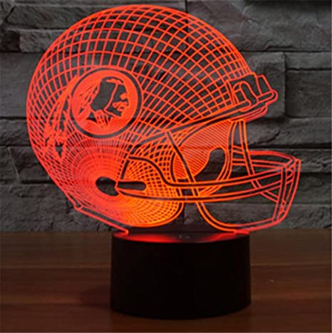 HAPPYMOOD Desk Lamp American Football Team Helmet Lights Christmas Birthday Gift 7 Colors Change USB Touch Sensor Night Light - - Amazon.com