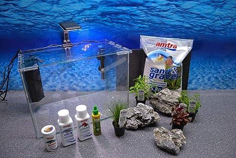 Wave caja Orion 40 Nano Acuario Incluye Decoración Completo Sistema de filtro de acuario