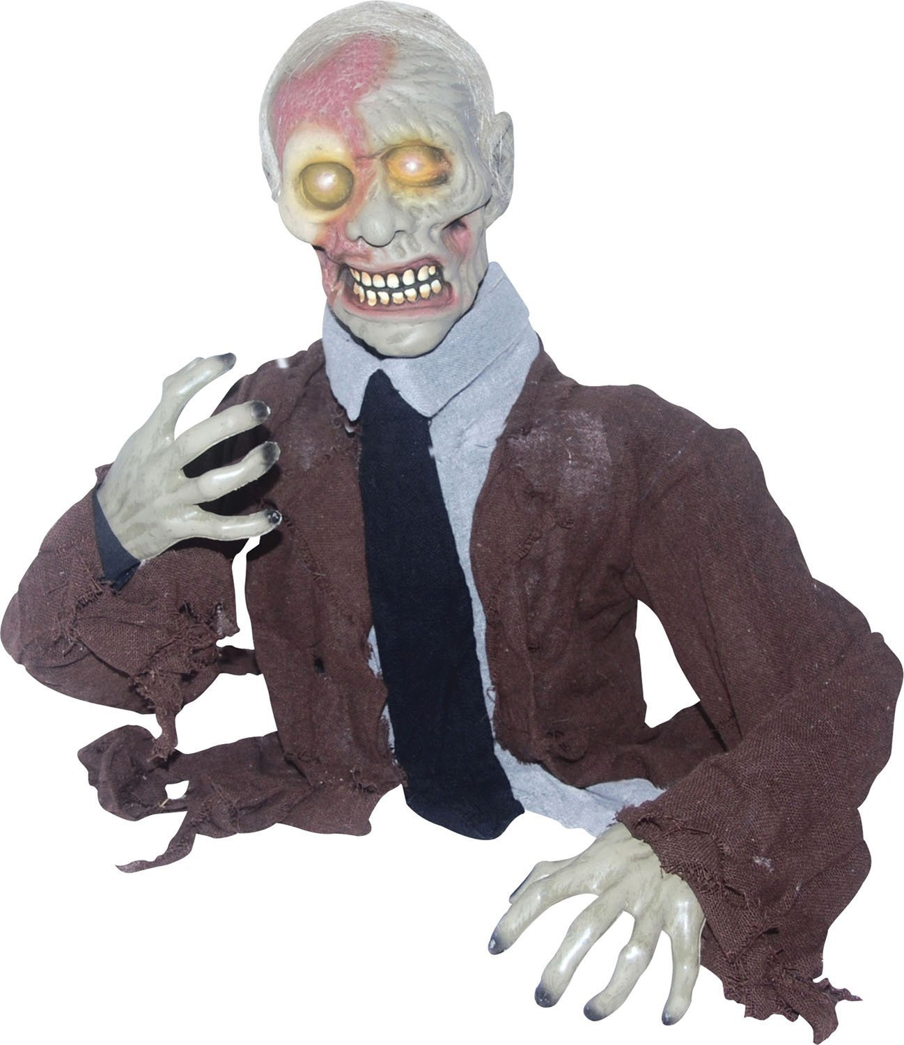 VIDEO LIFESIZE Limbless Jim Animated ZOMBIE HAUNTED HOUSE OUTDOOR HALLOWEEN PROP