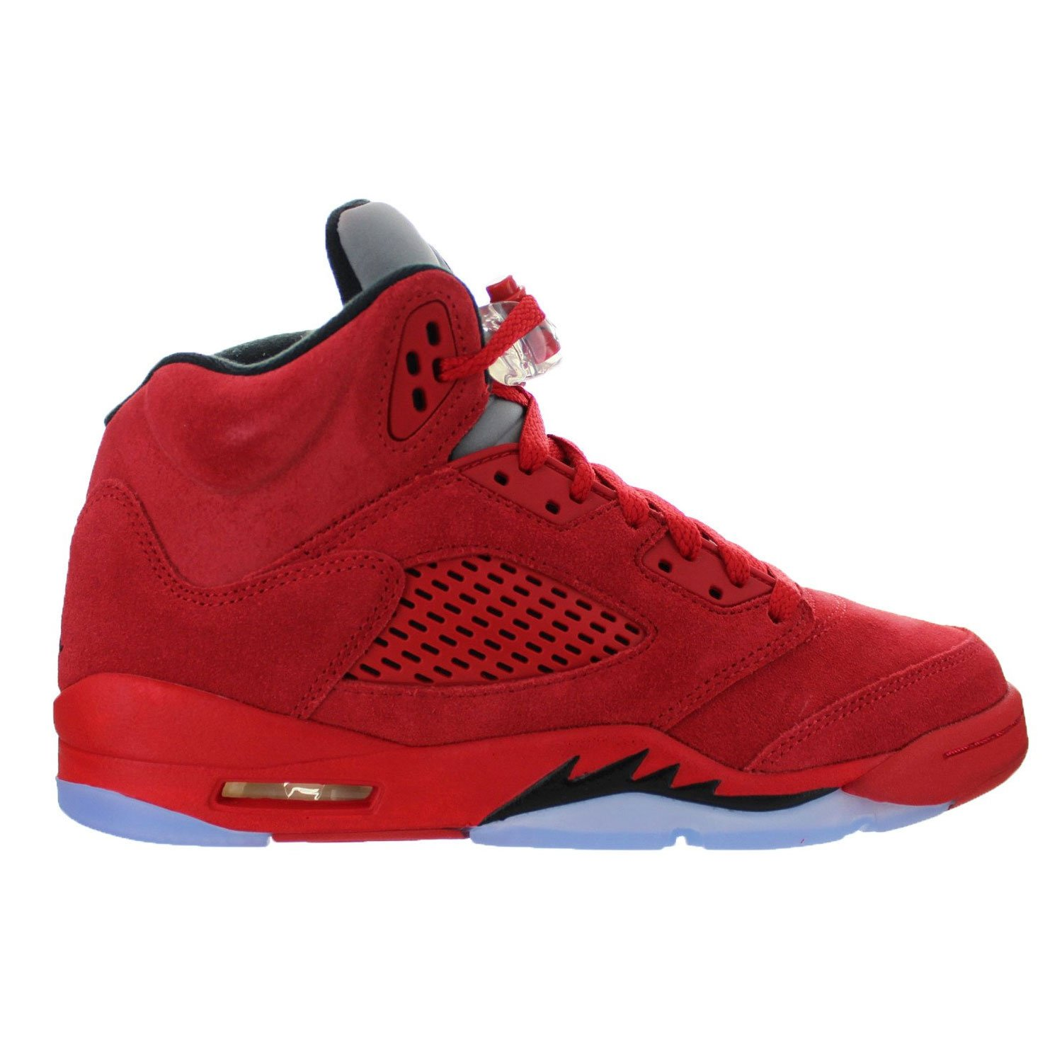 Jordan Retro 5'' Red Suede University Red/Black (Big Kid) (4 M US Big Kid) by Jordan