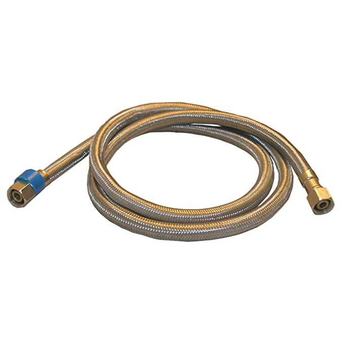 3//8-Inch Female Compression X 3//8-Inch Female Compression Braided Stainless Steel LASCO 10-0966 60-Inch Water Supply Line
