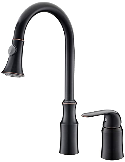 Ariellina Solo Lever Stainless Steel Copper Kitchen Sink Faucet Oil
