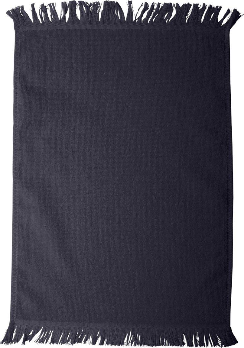 Towels Plus Fringed Fingertip Towel, ONE, Navy Anvil T600