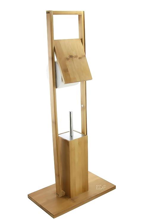 Bürstengarnituren Stand Wc Garnitur Holz Bambus