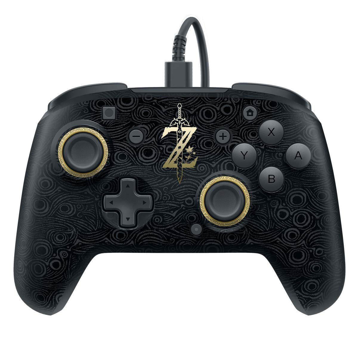 Pdp Gaming Zelda Wired Pro Controller Faceplate Black Gold Nintendo Switch Video Games
