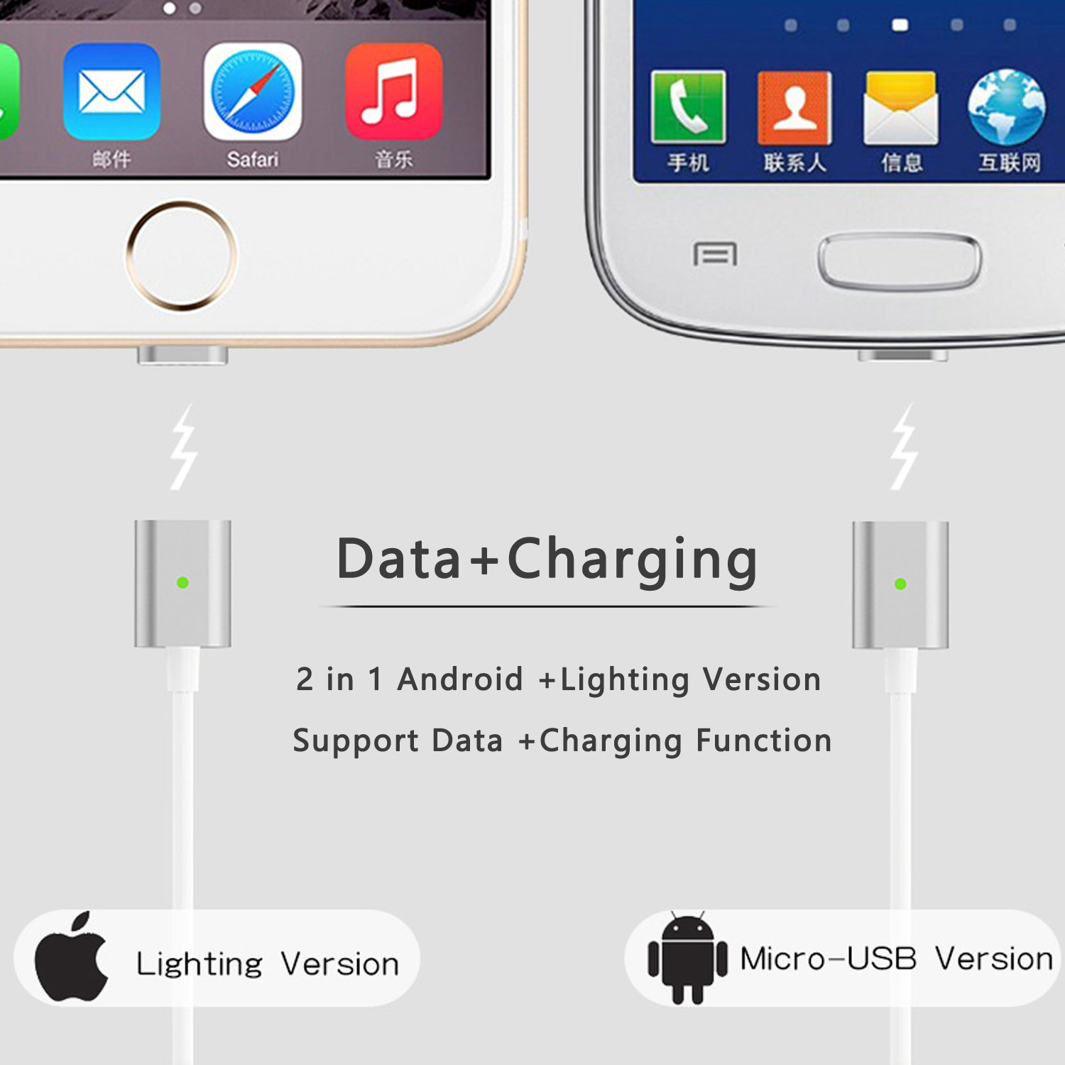 Magnetic Charging Cable2 In 1 Magnetic Charger Cable Adapter For Android Micr.. 16