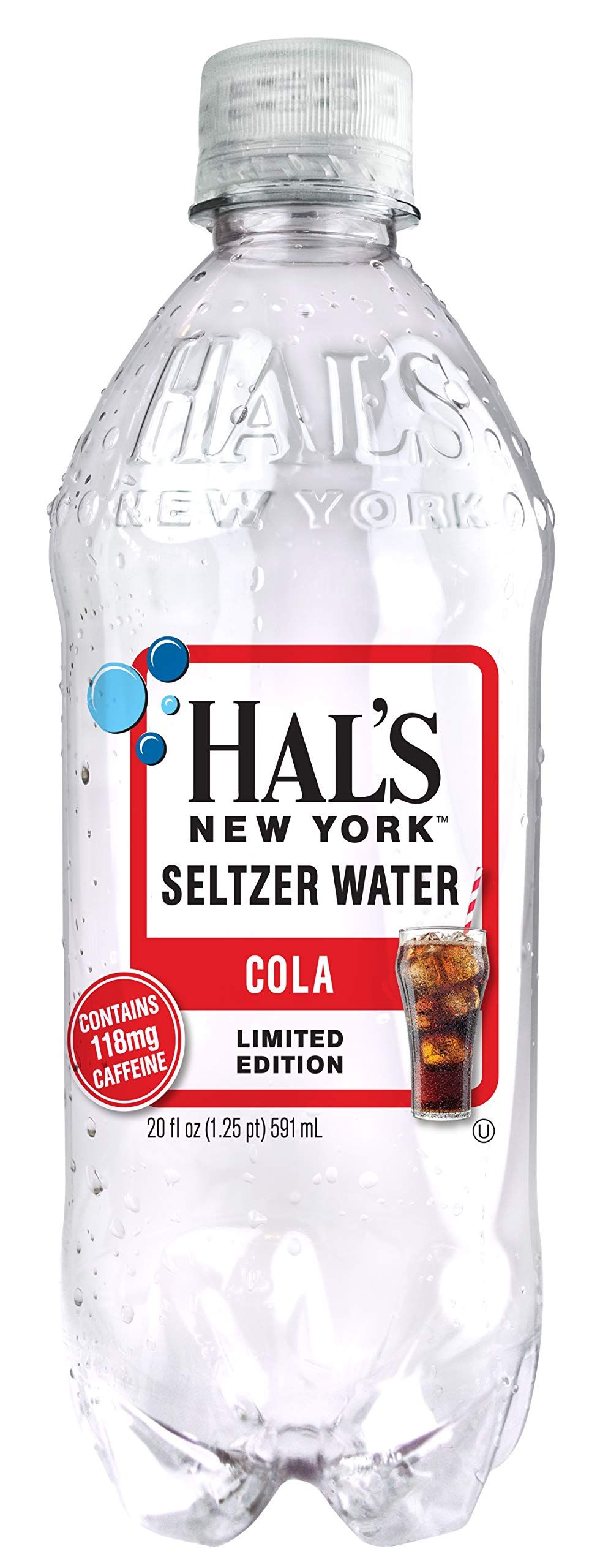 Hal's New York Seltzer Water Cola 20 Oz (24 Pack) by Hal's New York