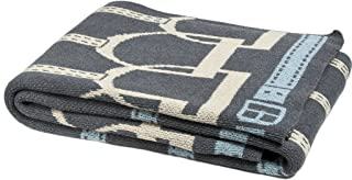 product image for in2green Eco Throw Blanket - Stirrup Pattern - Made from Soft Cotton and Polyester for Long Lasting Use – Smoke/Flax/Pond