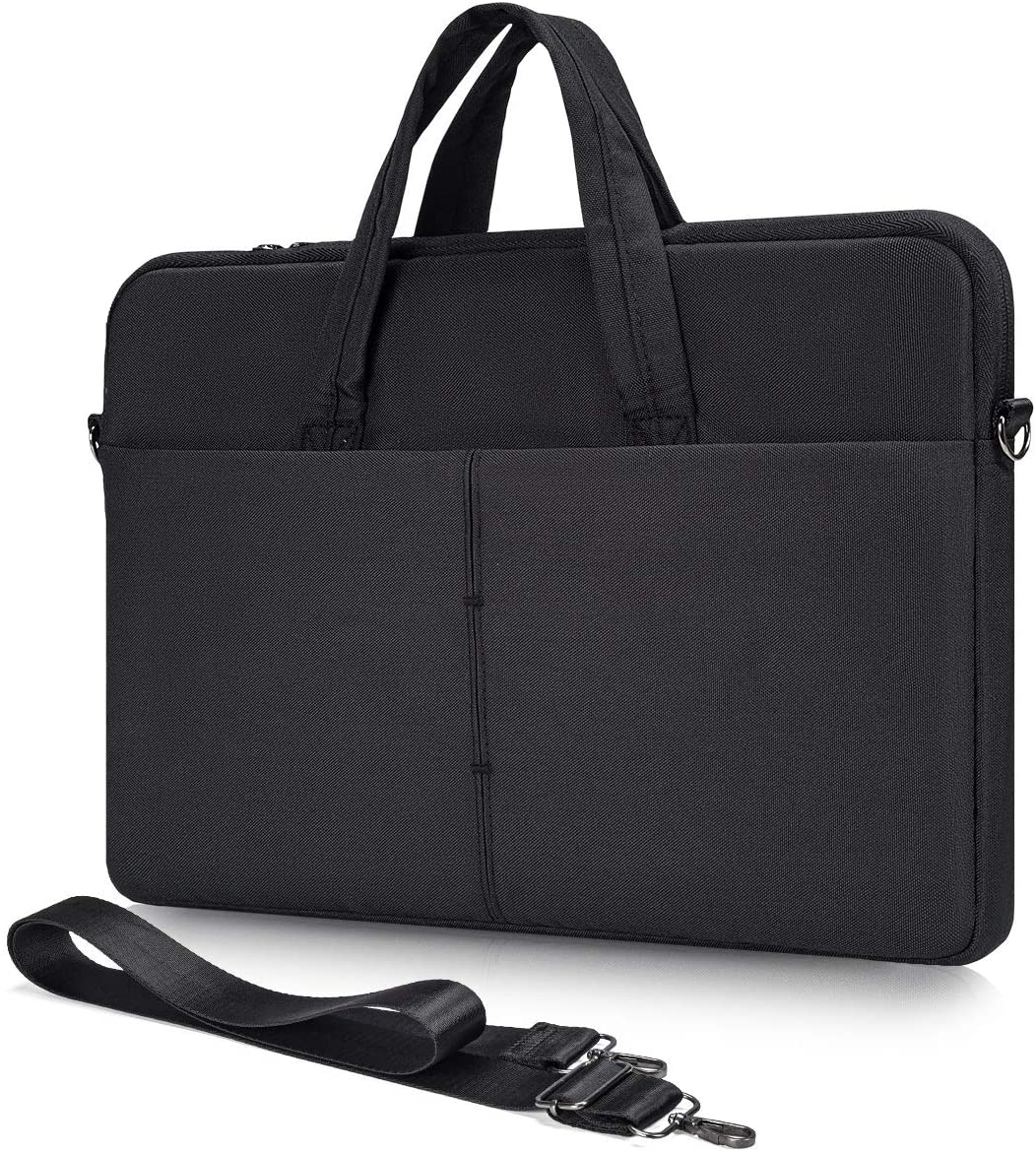 15.6 Inch Laptop Shoulder Case Bag for Acer Aspire 5/Chromebook 15/ Predator Helios 300, Asus Vivobook/Chromebook/TUF 15.6, HP Pavilion Envy 15.6, Dell Inspiron 15 5000 Carrying Case(Black)