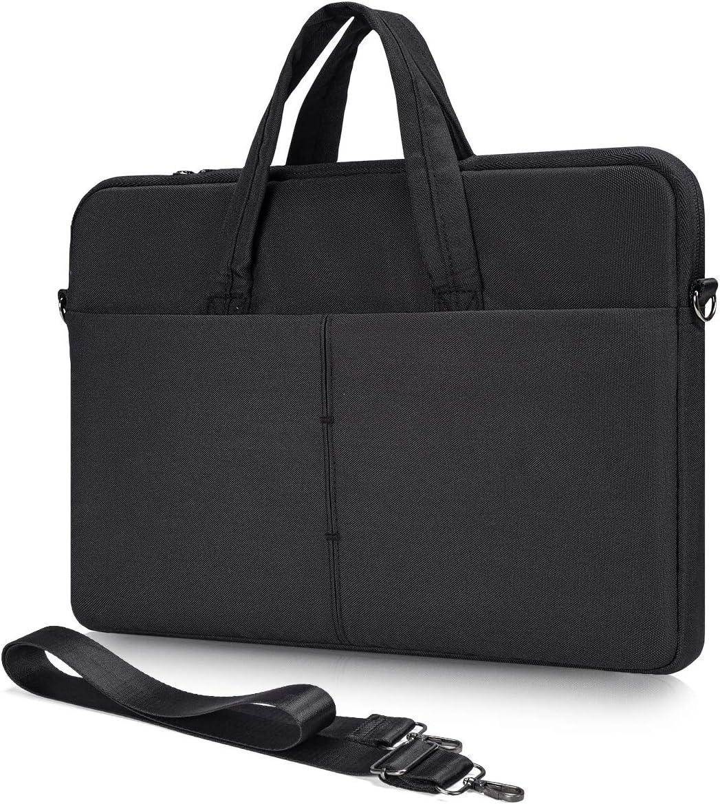 17-17.3 Inch Laptop Case with Shoulder Strap for 2020 HP 17.3/ Pavilion 17/ Envy 17/ OMEN 17, Asus Vivobook Pro 17/TUF 17/ROG 17.3, Dell Inspiron 17 3000 3793 Notebook Computer(Black)