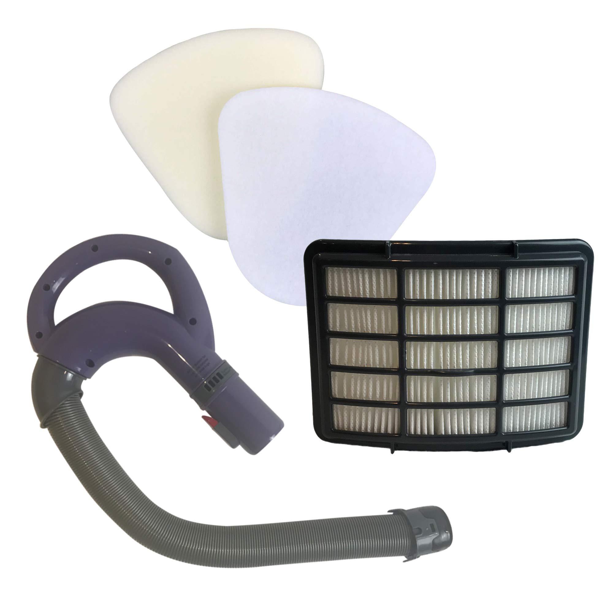 Think Crucial Replacement Shark Hose Handle, HEPA Style, Foam & Felt Filter Kit Fits NV350, NV351, NV352 Navigator Lift-Away Vacuum, Compare to Part 113FFJ XFF350 XHF350