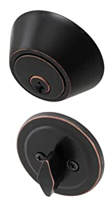 Honeywell Safes & Door Locks 8111409 Honeywell Deadbolt Oil Rubbed Bronze