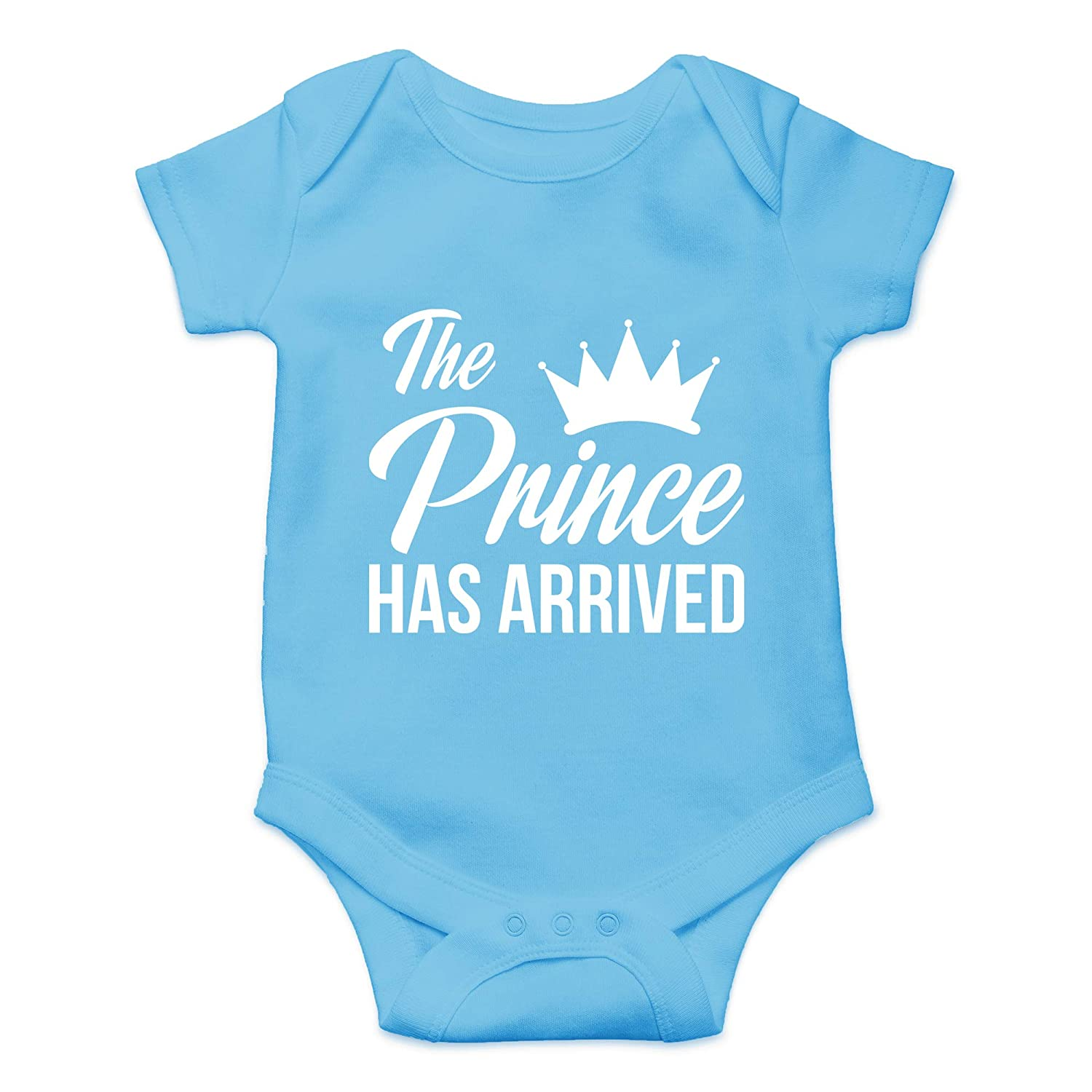 CBTwear The Prince Has Arrived - Newborn Coming Home Outfit - Cute Infant One-Piece Baby Bodysuit