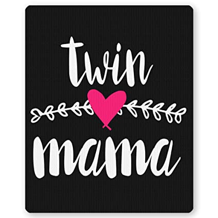 Twin Mama Funny Gift For Mommy Mousepad Mom Mothers Day Premium Birthday Christmas