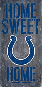 Hall of Fame Memorabilia Indianapolis Colts Wood Sign - Home Sweet Home 6''x12''