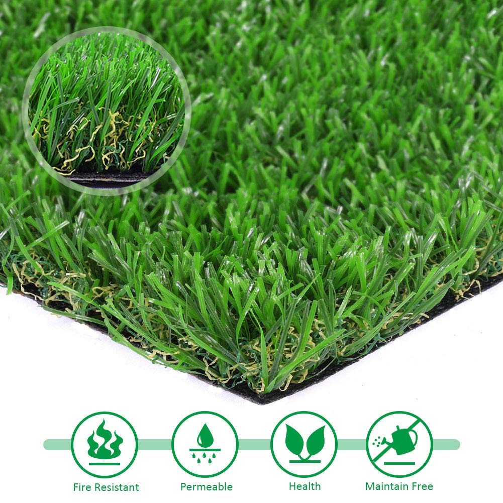 Artificial lawn Synthetic Turf Artficial Grass for Dog Pet Area Indoor Outdoor Landscape, 2'x4'