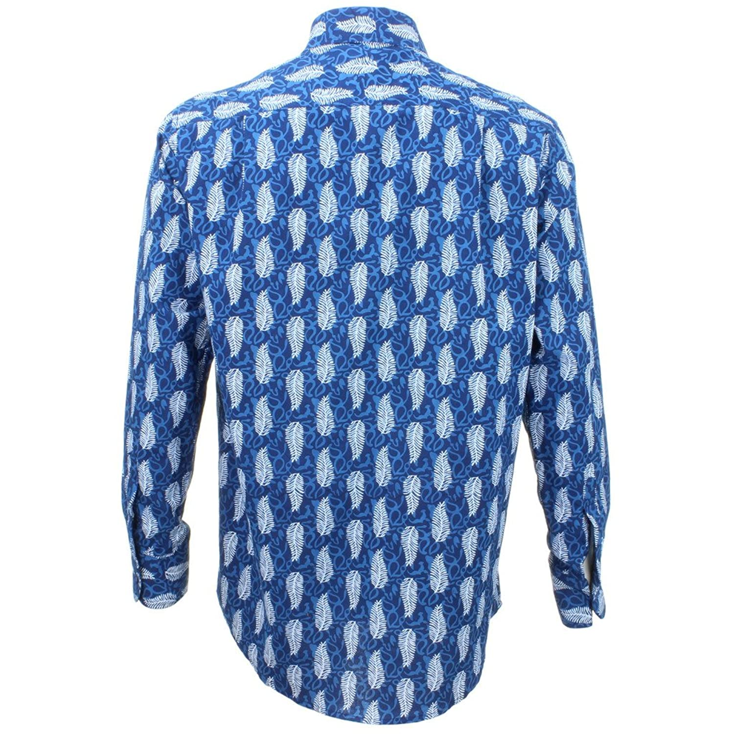 Loud Originals Regular Fit Long Sleeve Shirt - Blue with White Feathers
