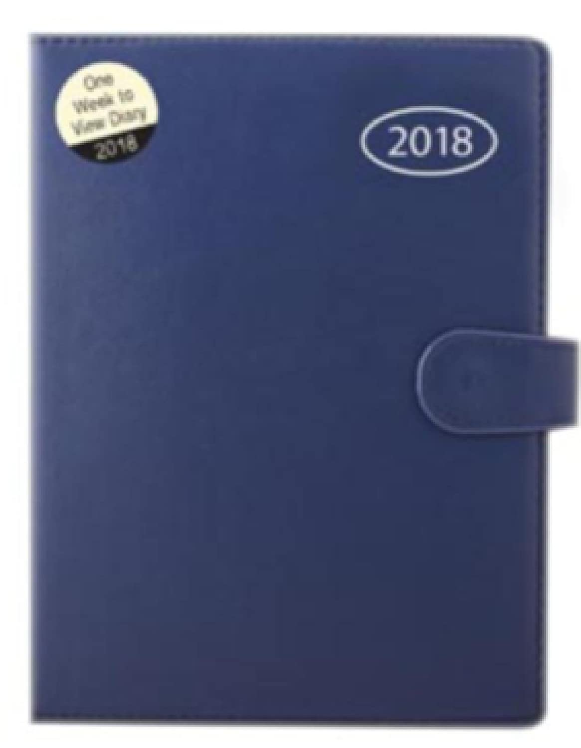 2018 A5 Week to View Diary Personal organiser with address book and pen 2077 (Blue-2077) JMS Photos