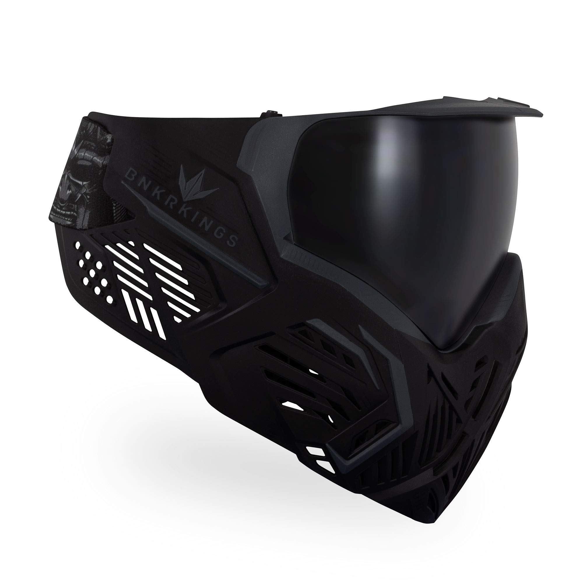 Bunker Kings CMD Paintball Goggle/Mask - Black Samurai by Bnkr Kings