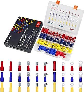 480PCS Quetschverbinder Steckverbinder Sortiment Box Flachstecker Kabelschuhe