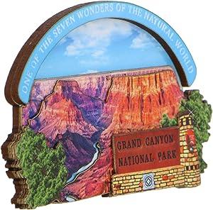 3D Wooden Grand Canyon Magnet Souvenir