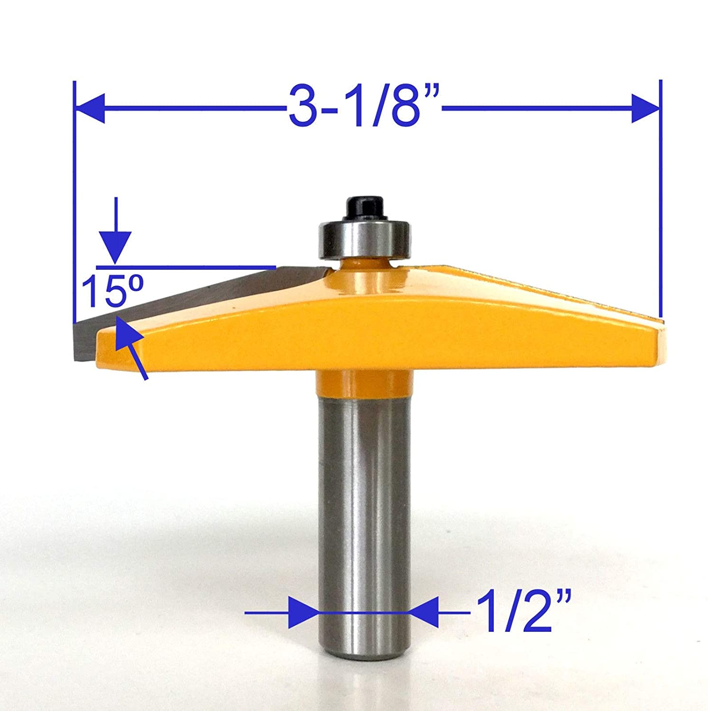 GG 1pc 1//2 shank 3-1//8 Diameter 15/° Straight Raised Panel Router Bit