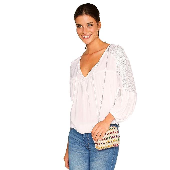 322e7d03964 VENCA Blusa Escote caftán con Cordones y borlas Mujer by Vencastyle -  024394: Amazon.es: Ropa y accesorios