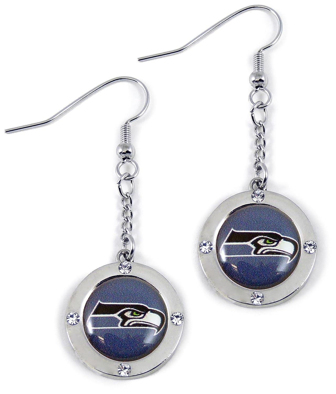 NFL Seattle Seahawks Crystal Dangle Earrings
