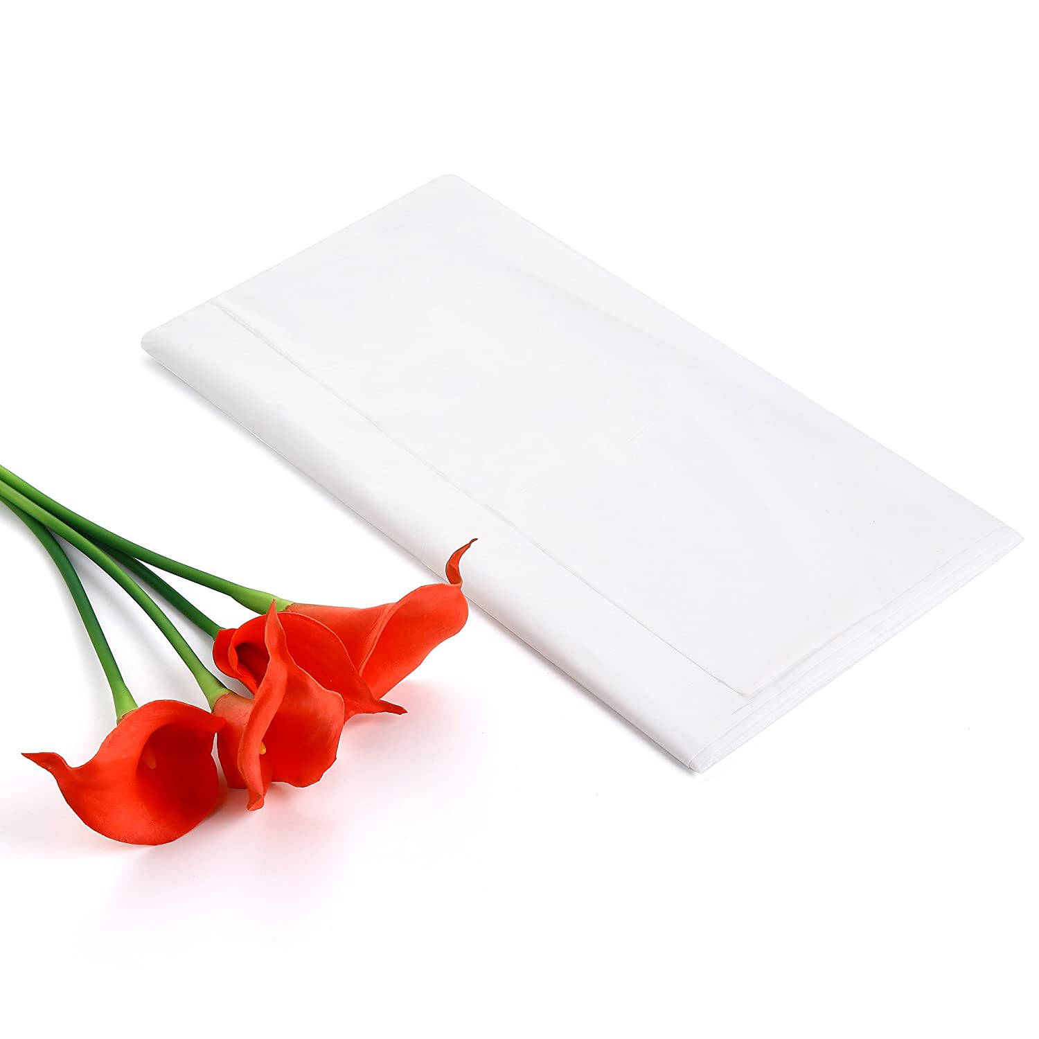 12-Pack Heavy Duty Plastic Tablecloth rectangular 54in Angelo.cn 54in. X 108in. Rectangle, White x 108in Rectangle Table Cover for rectangle table