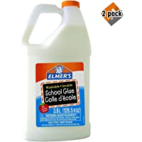 Elmer's 6155060341 Washable No-Run School Glue, 3.8 L (1 Gallon) Jug (2 Pack)