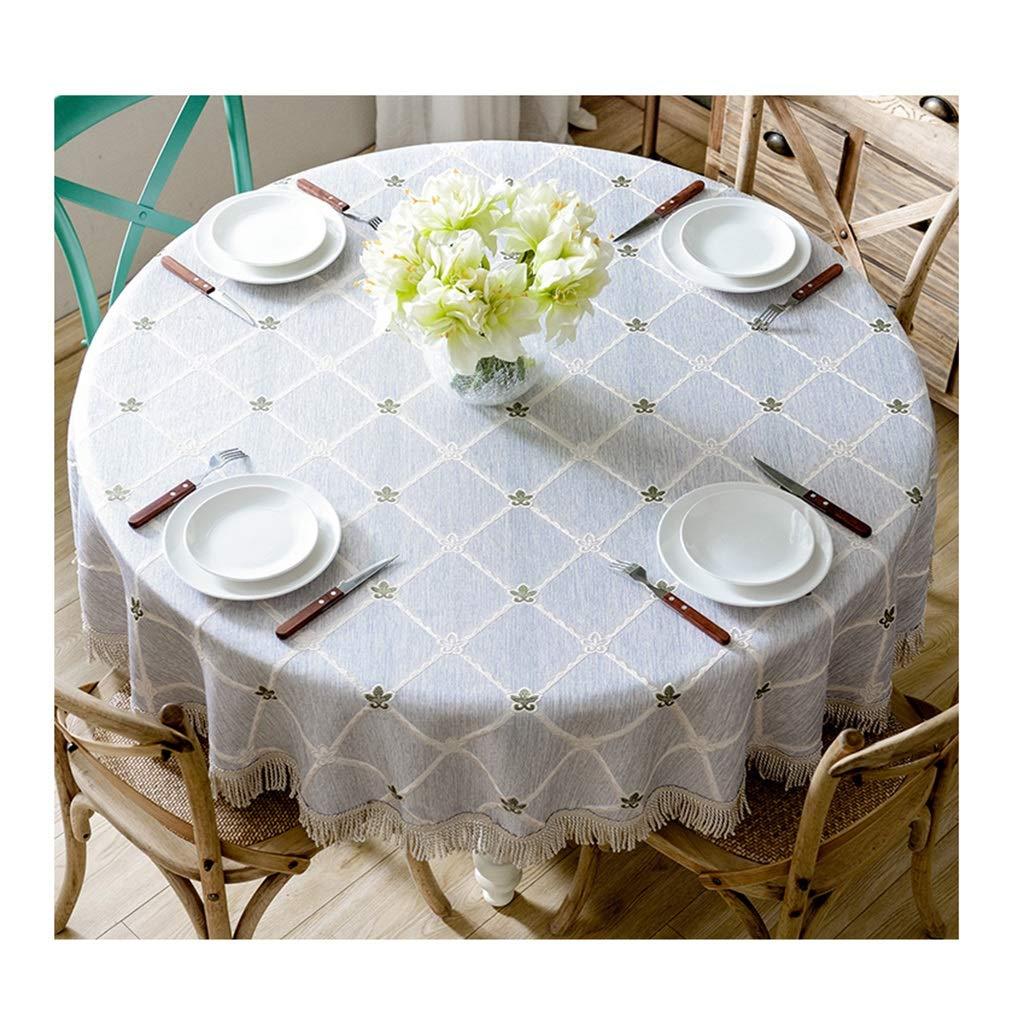 ラウンドテーブルクロス 大きなラウンドテーブルクロスヨーロッパスタイルの家庭用装飾テーブルクロスシンプルなホテルの宴会耐久性のあるテーブルクロスレストラン テーブルクロス (サイズ さいず : Round-220cm) Round-220cm  B07RXW5Q45