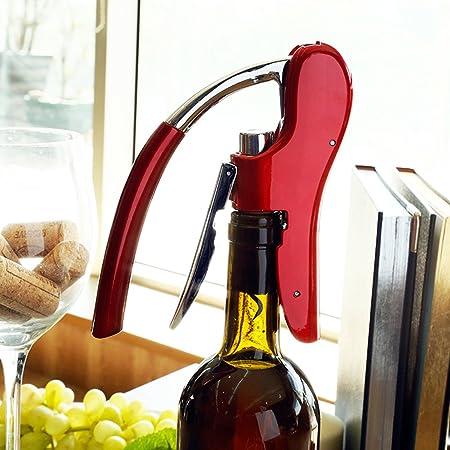 Abrebotellas profesional Best Utensils de aleación de zinc para vino, premium, con palanca, sacacorchos con cortador de papel de aluminio integrado, juego de abrebotellas de camarero rosso