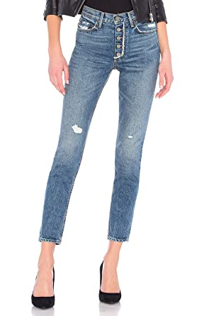 11bd4fb9ad GRLFRND Karolina - High-Rise Skinny with Exposed Button Fly in Mother Fray  (29