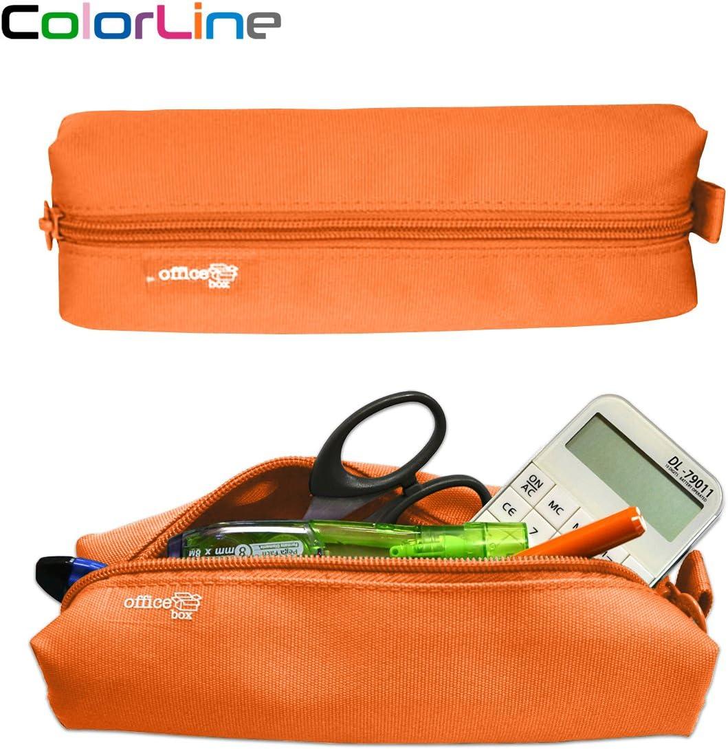 Colorline 59311 - Portatodo Cuadrado, Estuche Multiuso para Viaje, Material Escolar, Neceser y Accesorios. Color Naranja, Medidas 22 x 6 x 5 cm: Amazon.es: Oficina y papelería