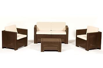 Cannes - Mobiliario de salón para exteriores (12 piezas, 2 ...