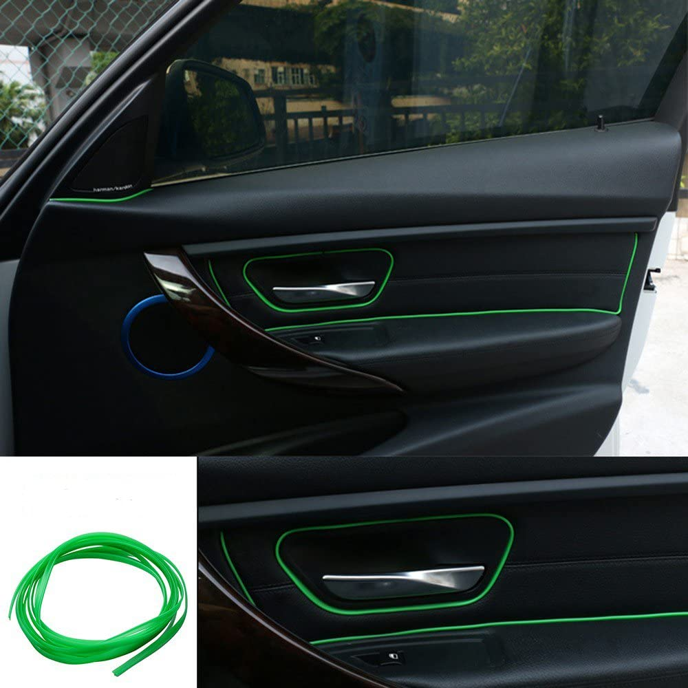 Green 5m Point Edge Gap Line Auto Car Interior Accessories Molding Decal Sz