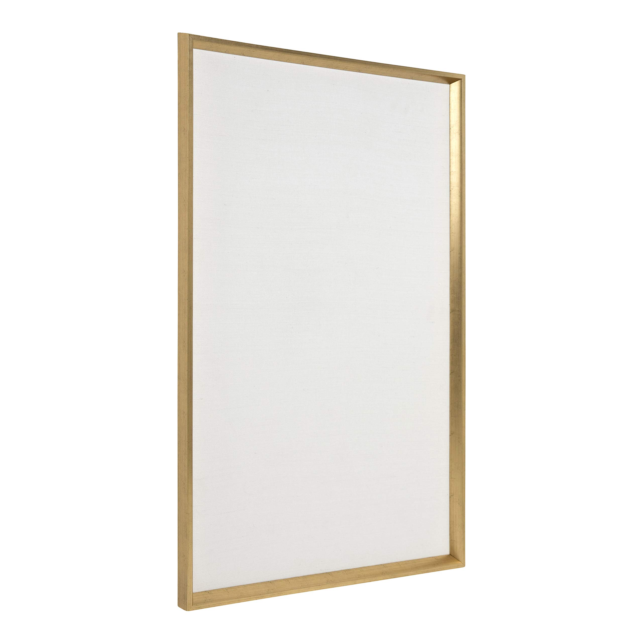 DesignOvation Kate and Laurel Calter Framed Linen Fabric Pinboard, 25.5 x 41.5, Gold by DesignOvation