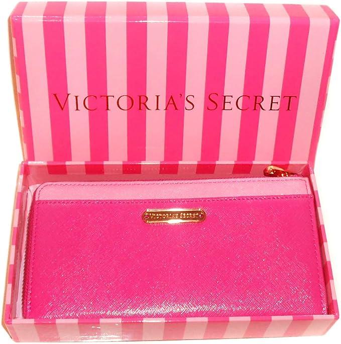 New Genuine Victoria s Secret para mujer con cremallera monedero cartera – en caja de regalo – Rosa: Amazon.es: Belleza