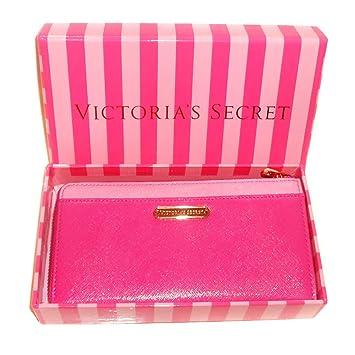 8ad3cc5e106 Neuf authentique Victoria's Secret pour femme Zip autour de portefeuille –  Boîte Cadeau – Rose