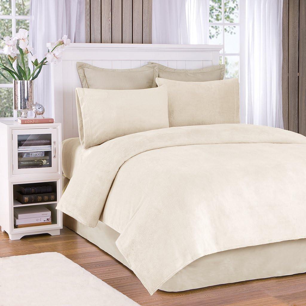 True North by Sleep Philosophy BL20-0447 Premier Comfort Soloft Sheet Set Queen Cream, Ivory