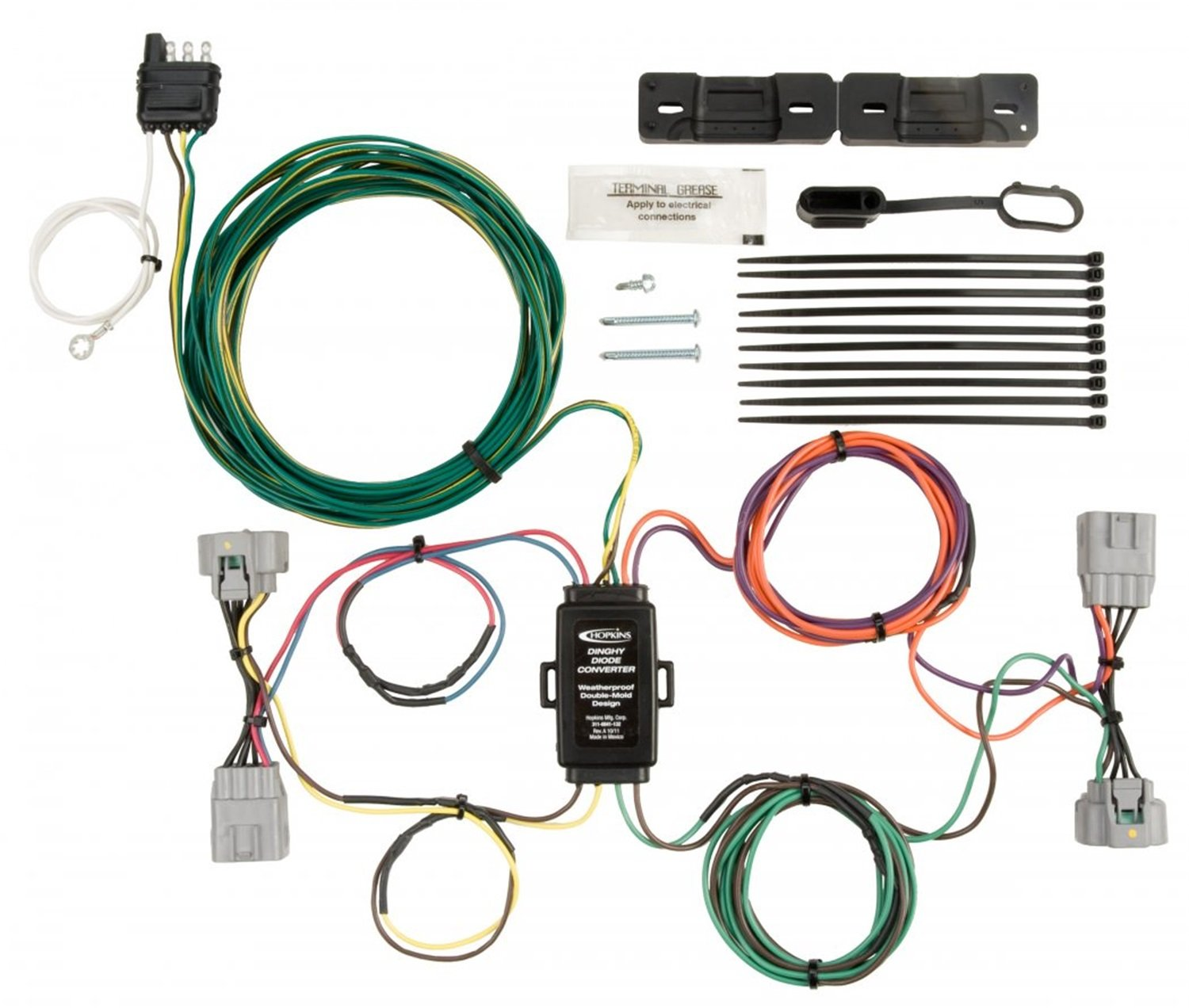 Hopkins 56208 Diode Plug-In Simple Wiring Kit Hopkins Towing Solutions