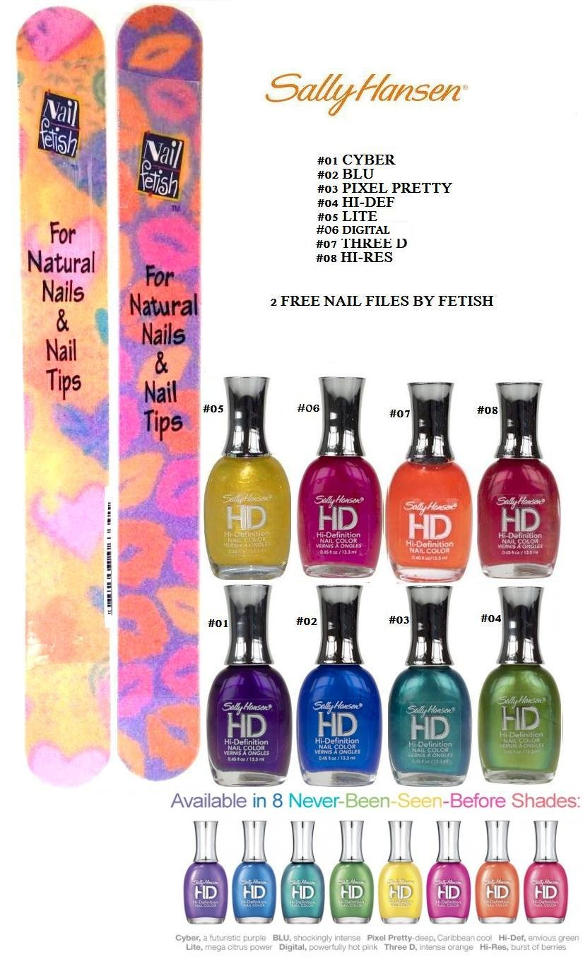 Amazon.com : Sally Hansen HD Hi-Definition Nail Color COLLECTION OF ...
