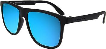 923b0a4ce7 The Wrong Way Gafas de Sol Unisex tipo Wayfarer Lentes de espejo azules Cat. 3