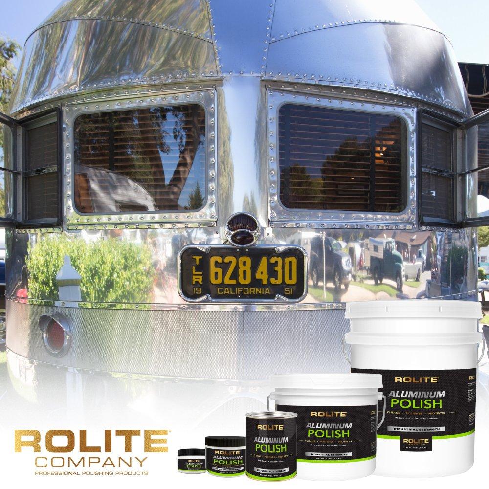 Rolite Aluminum Polish (1lb) for All Aluminum & Bare Metal Surfaces, Canoes, Jon Boats, Pontoons, Diamond Plate, Aluminum Non-Coated Wheels 6 Pack by Rolite (Image #4)