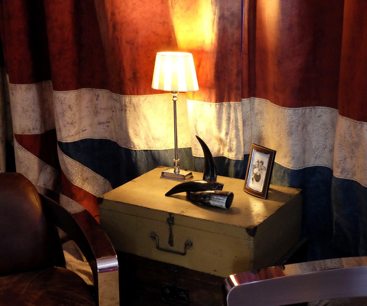 Moderne Lampen 82 : Brillibrum design tischlampe mit hellbraun weiß gestreiftem