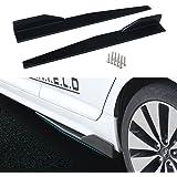 Saias laterais Dtouch Racing para veículos universais, preto, 860 mm, externo, extensões, divisores, difusores de lábios, car